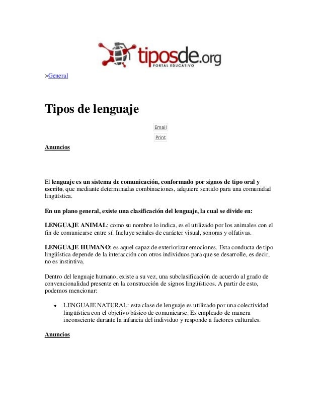 Tipos de lenguajes