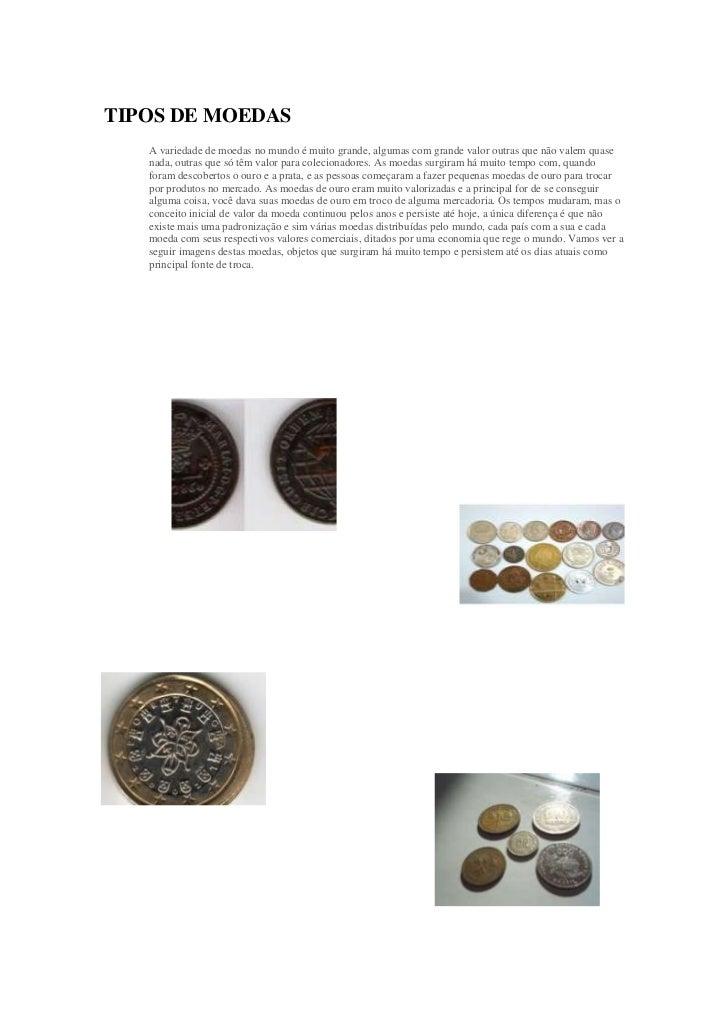 Tipos de moeda