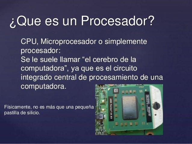 Tipos de procesadores for Cuales son las caracteristicas de un mural