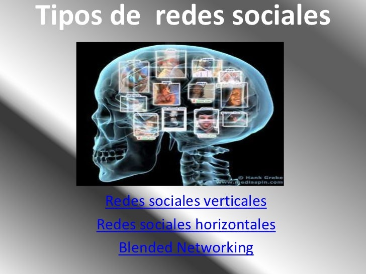 Tipos de redes sociales     Redes sociales verticales    Redes sociales horizontales       Blended Networking