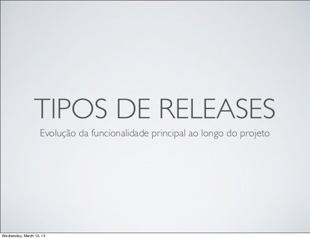 Tipos de releases slideshare