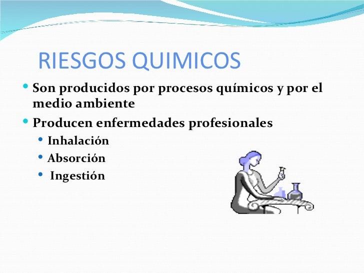 Tipos de riesgo y su prevencion for Procesos quimicos en la cocina