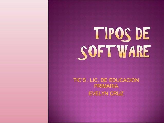 TIC'S , LIC. DE EDUCACION PRIMARIA EVELYN CRUZ
