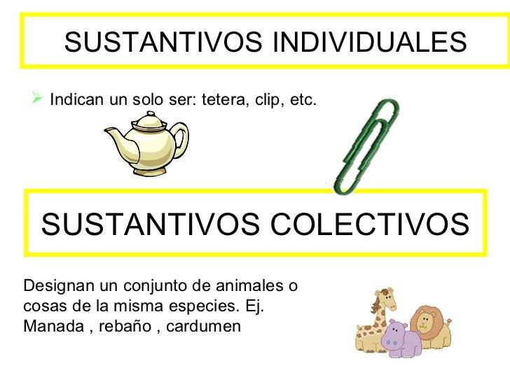 Resultado de imagen de sustantivo individual y colectivo