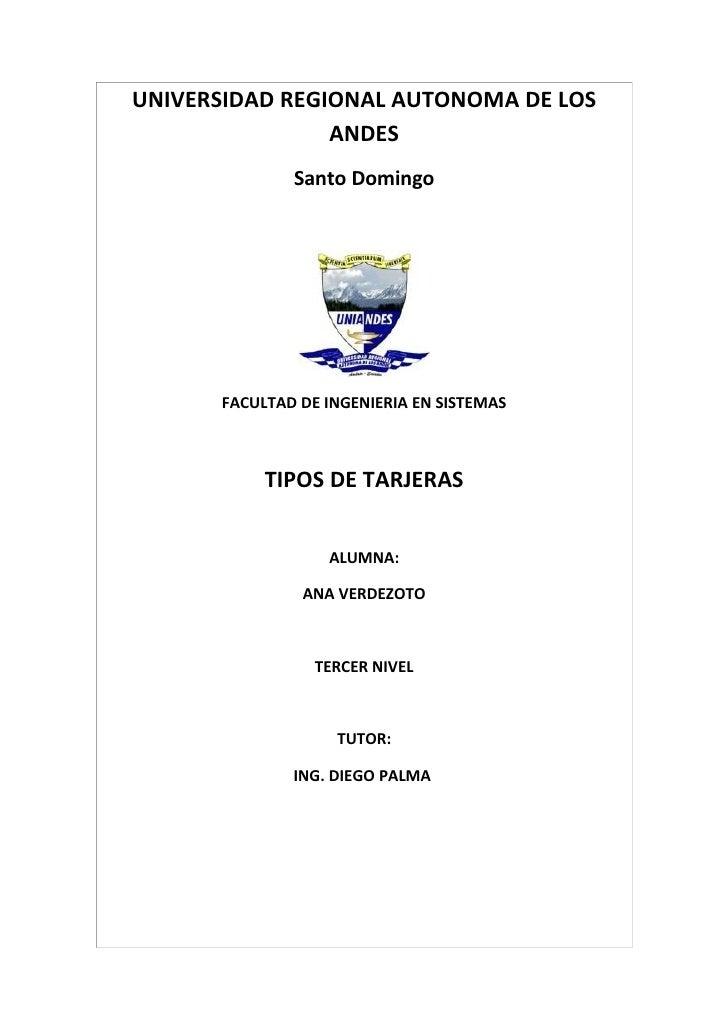 UNIVERSIDAD REGIONAL AUTONOMA DE LOS                ANDES              Santo Domingo      FACULTAD DE INGENIERIA EN SISTEM...