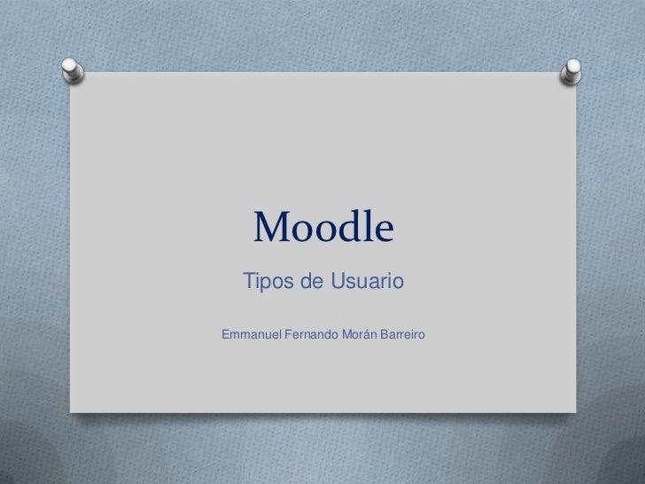 Tipos de usuario moodle