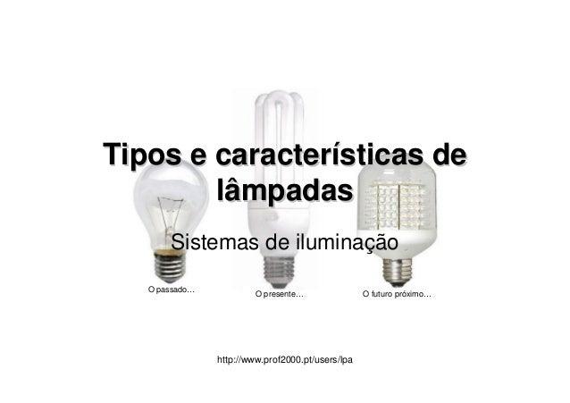 Tipos e caracteristicas_de_lampadas
