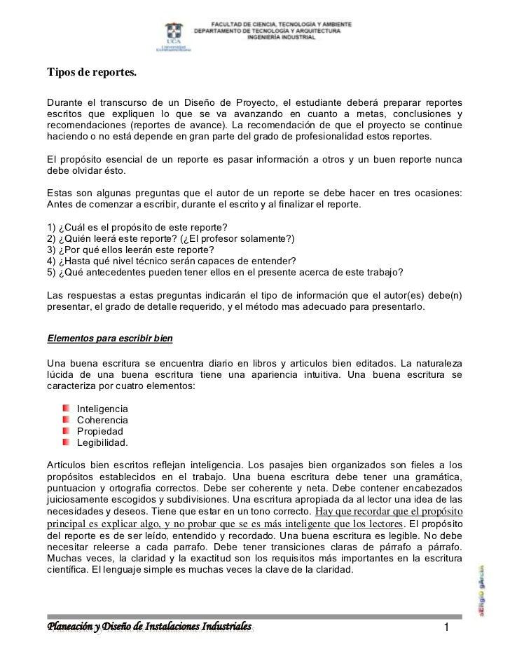 TIPOS DE REPORTE