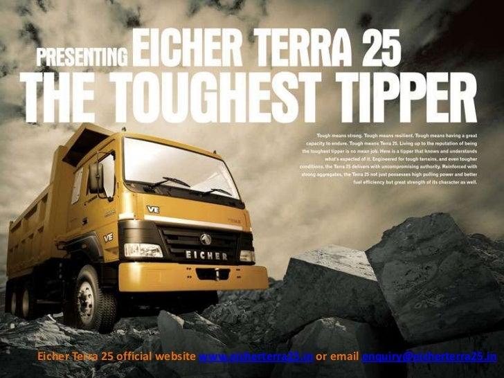 Eicher Terra 25 official website www.eicherterra25.in or email enquiry@eicherterra25.in