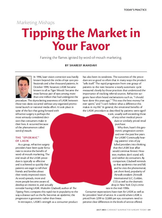 TODAY'S PRACTICE Marketing Mishaps     Tipping the Market in          Your Favor                        Fanning the flames...
