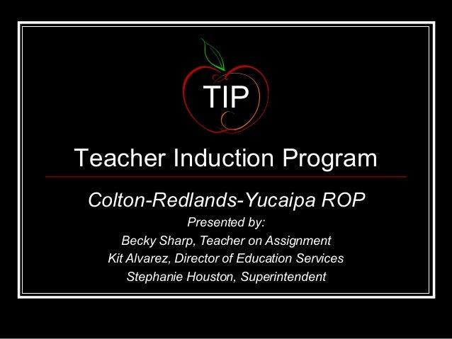 TIP: A Teacher Support Program for Beginning CTE Teachers