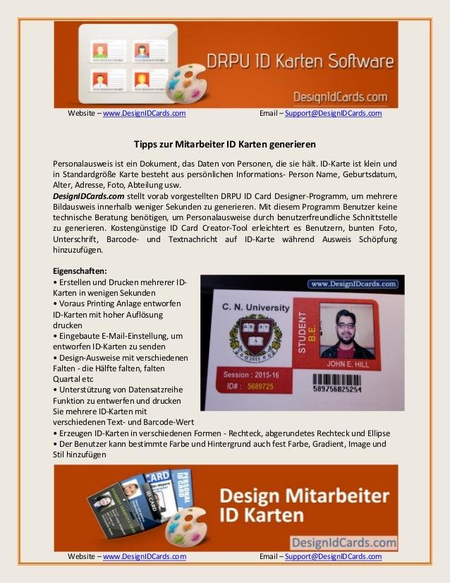 Website – www.DesignIDCards.com Email – Support@DesignIDCards.com Website – www.DesignIDCards.com Email – Support@DesignID...