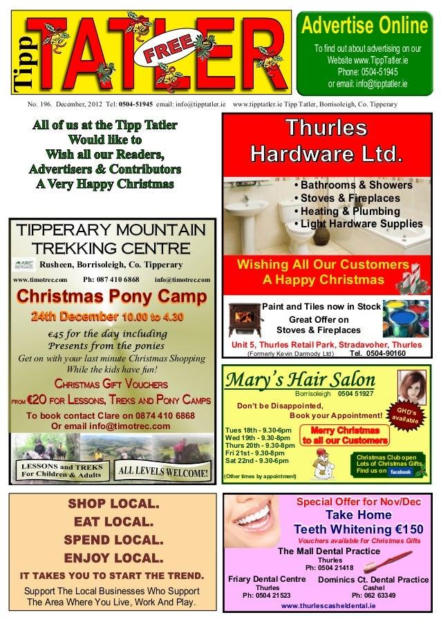 Tipp Tatler Issue 196 December 2012