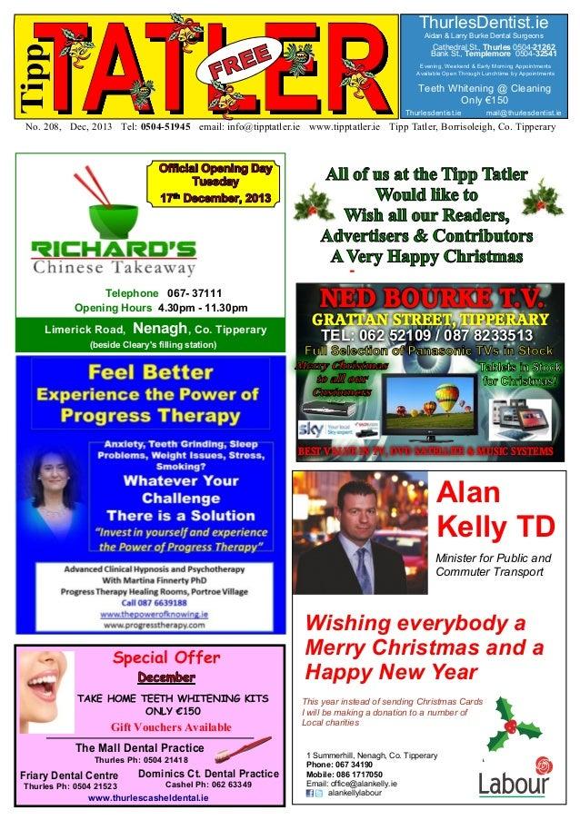 Tipp  TATLER  ThurlesDentist.ie Aidan & Larry Burke Dental Surgeons  Cathedral St., Thurles 0504-21262 Bank St., Templemor...