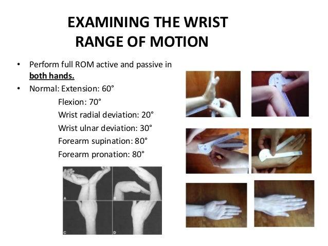 Tips on upper limb assessment