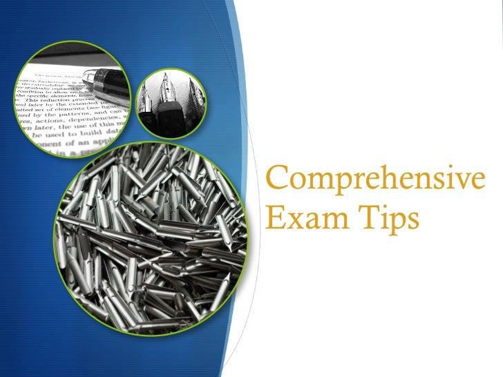ComprehensiveExam Tips
