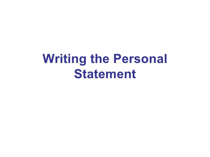 Tips To make a Personal Statement