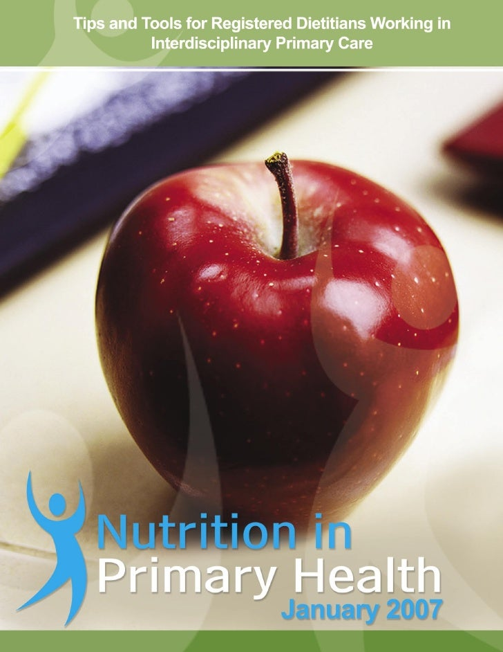 1 Tips and Tools for Registered Dietitians Working in Interdisciplinary Primary Care
