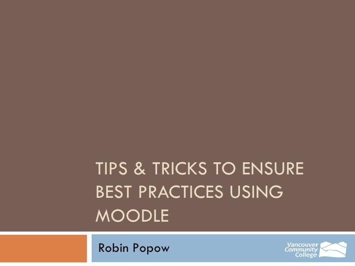Tips & Trix Workshop Presentation