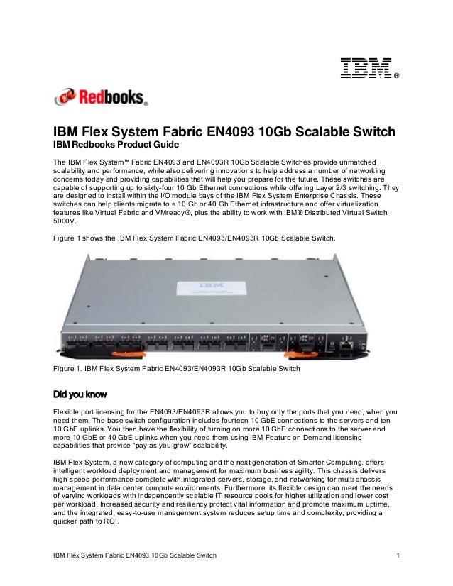®IBM Flex System Fabric EN4093 10Gb Scalable SwitchIBM Redbooks Product GuideThe IBM Flex System™ Fabric EN4093 and EN4093...