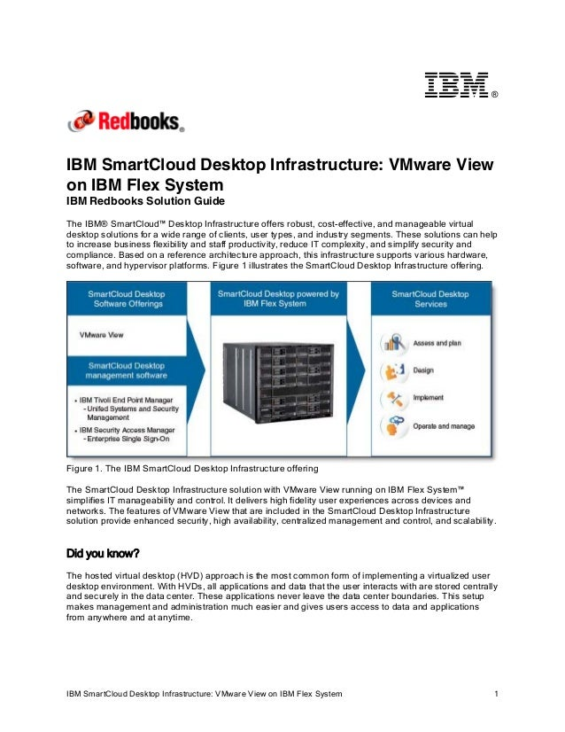 ®  IBM SmartCloud Desktop Infrastructure: VMware View on IBM Flex System IBM Redbooks Solution Guide The IBM® SmartCloud™ ...