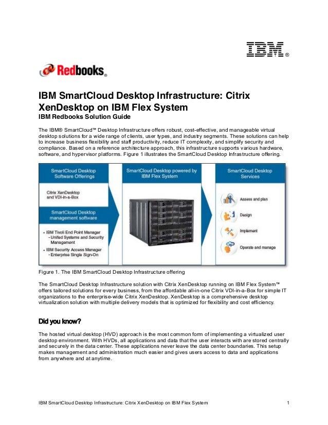 ®  IBM SmartCloud Desktop Infrastructure: Citrix XenDesktop on IBM Flex System IBM Redbooks Solution Guide The IBM® SmartC...