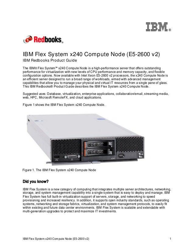 IBM Flex System x240 Compute Node (E5-2600 v2)