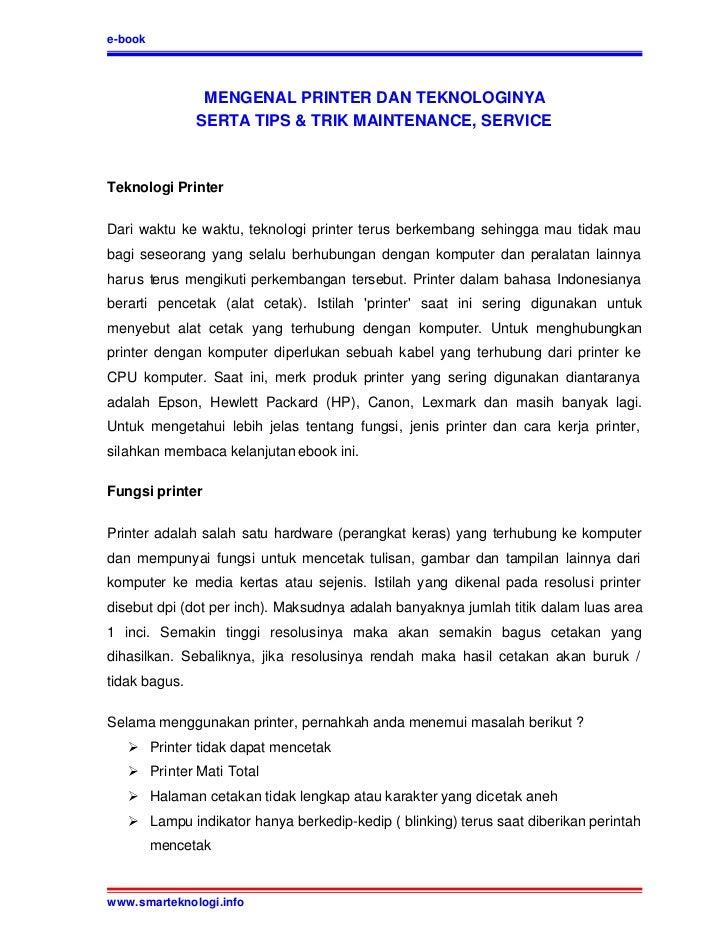 Tips dan trik service printer