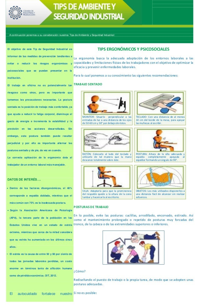 Tips Seguridad Seguridad Industrial Tips