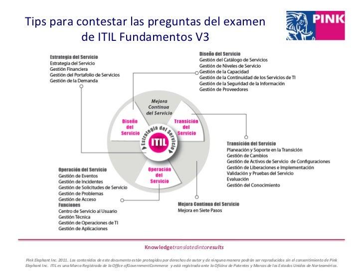 Tips para contestar las preguntas del examen de ITIL Fundamentos V3<br />