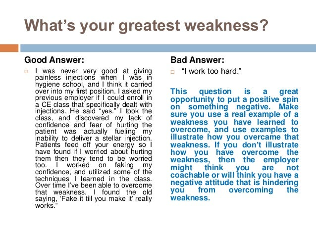 What Is Your Greatest Weakness? Answers (Examples Included)