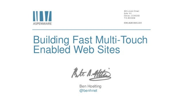 Tips for building fast multi touch enabled web sites