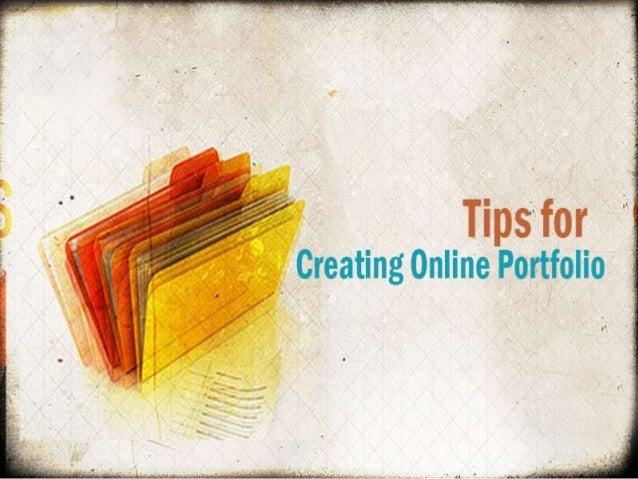 Tips for creating online portfolio