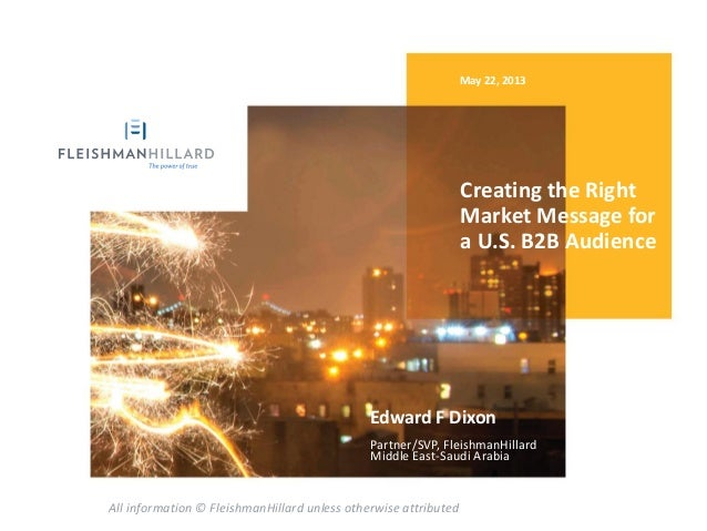 Creating the Right Market Message for a U.S. B2B Audience