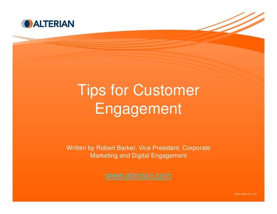 Tips For Customer Engagement
