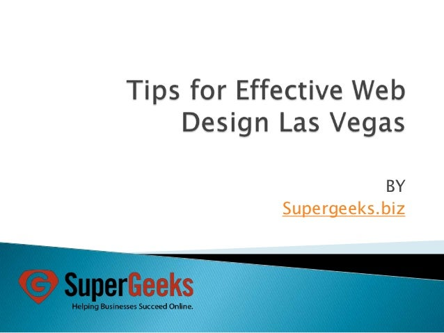 Tips for effective web design las vegas