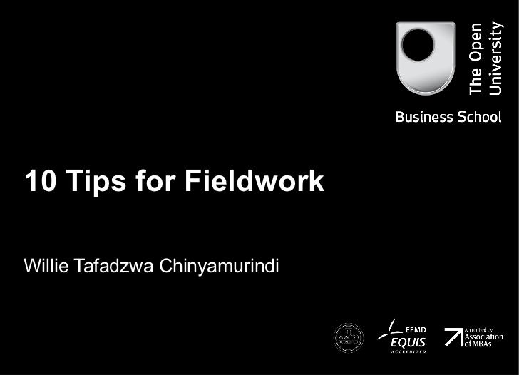 Tips for fieldwork