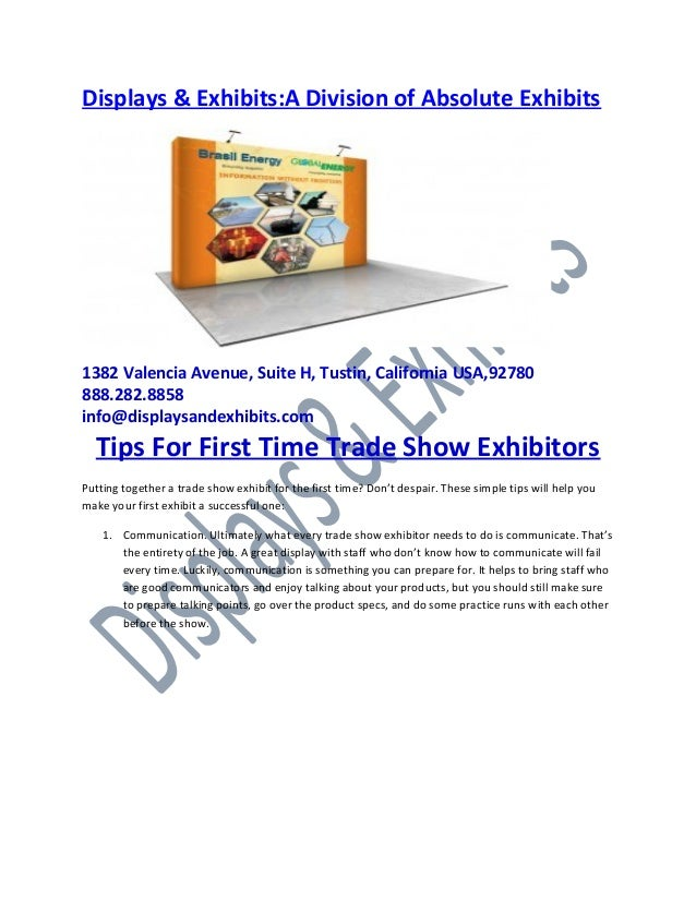 tips for time trade show exhibitors