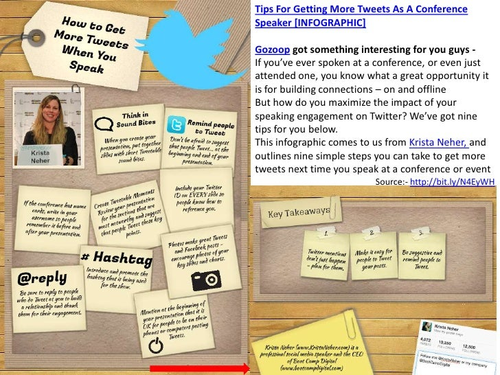 Tips for getting more tweets as a conference speaker [infographic]