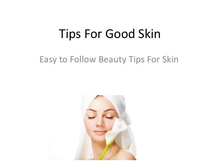 Beauty Tips for good skin