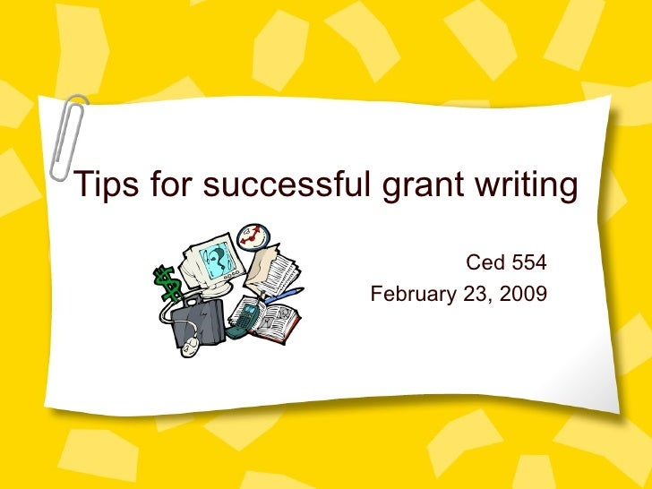 Tips For Grant Writing