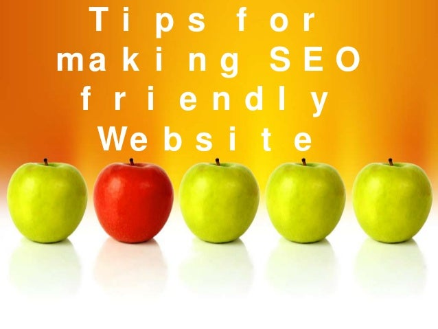 making a seo friendly website