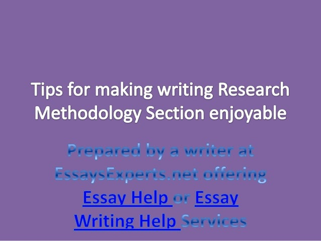 Writing methodology section research paper