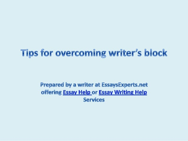 overcome writers block essay The college essay has been inflicting serious bouts of writer's block into prospective applicants since its implementation but fear not, stressing seniors, here are some humorous (and ridiculous) ways to start that pesky college essay 1 if you haven't found anything extraordinary about your.