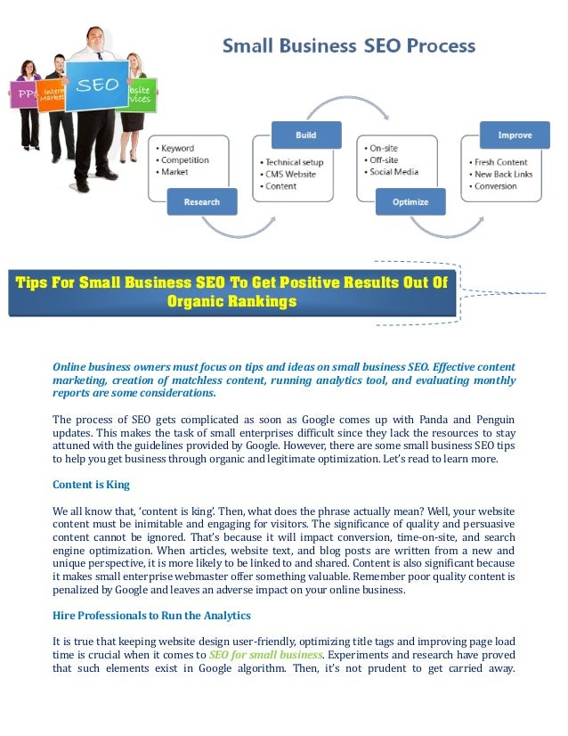 Tips For Small Business SEO To Get Positive Results Out Of Organic Rankings