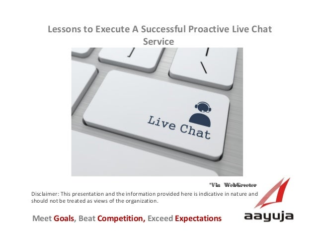 Lessons to Execute A Successful Proactive Live Chat Service