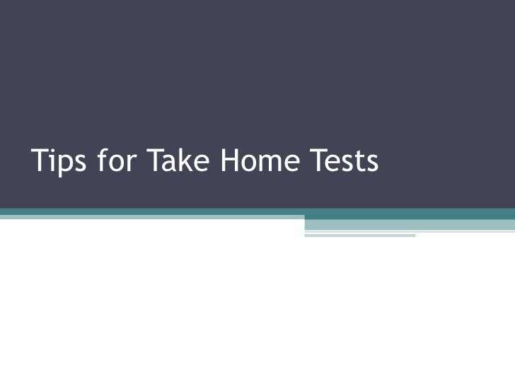 Tips for take home tests97