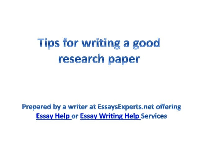 Help with writing a research paper