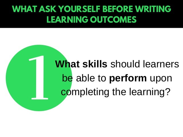 how to write learning outcomes