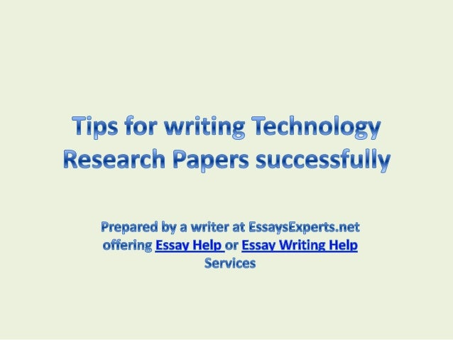 Research writting assistance